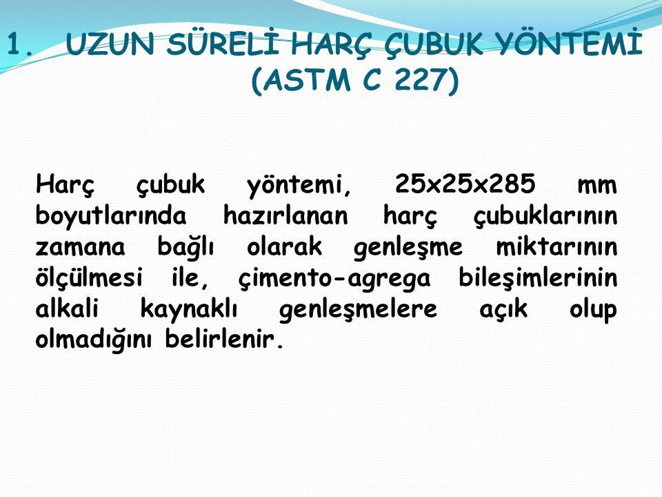 UZUN SÜRELİ HARÇ ÇUBUK YÖNTEMİ (ASTM C 227)