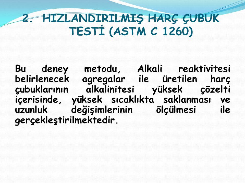 HIZLANDIRILMIŞ HARÇ ÇUBUK TESTİ (ASTM C 1260)