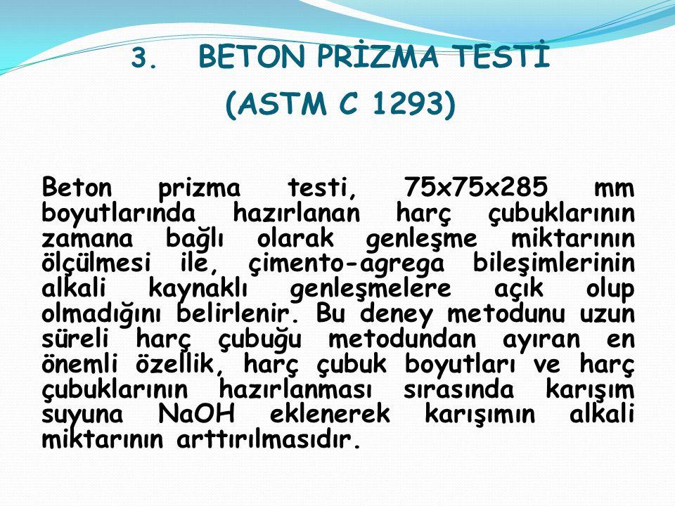 3. BETON PRİZMA TESTİ (ASTM C 1293)