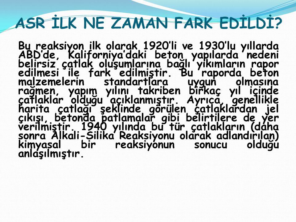ASR İLK NE ZAMAN FARK EDİLDİ