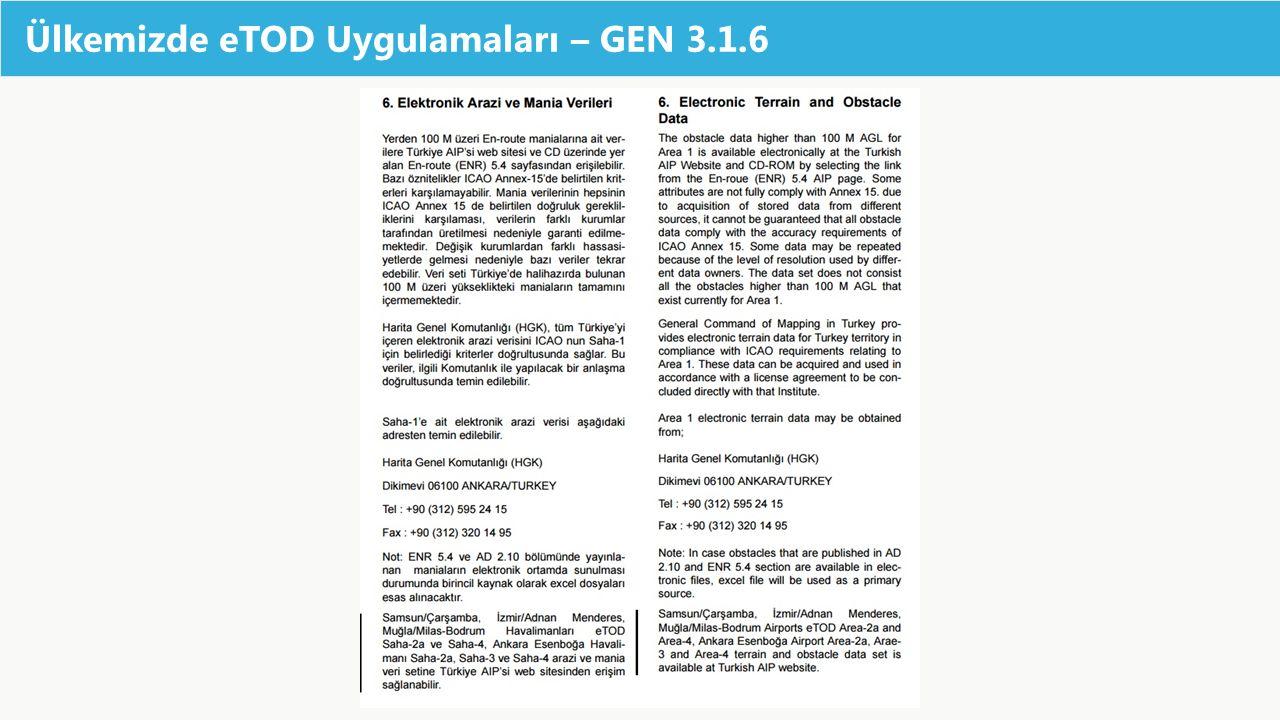 Ülkemizde eTOD Uygulamaları – GEN 3.1.6