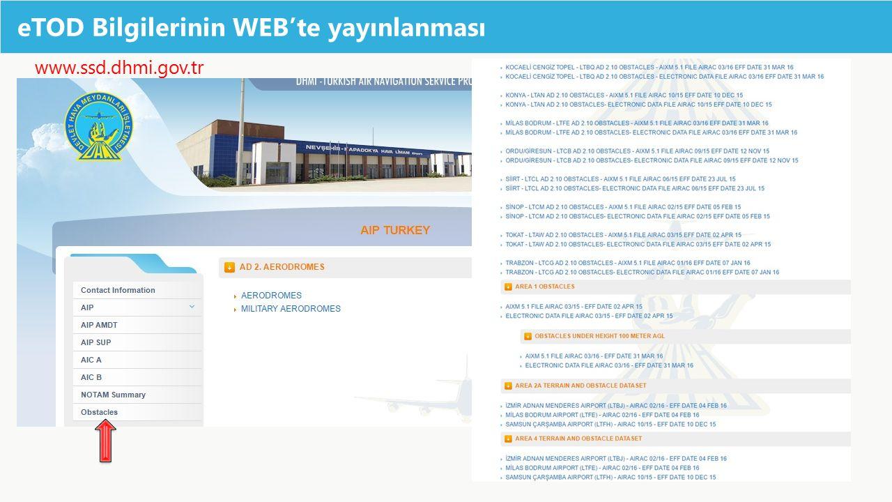 eTOD Bilgilerinin WEB'te yayınlanması