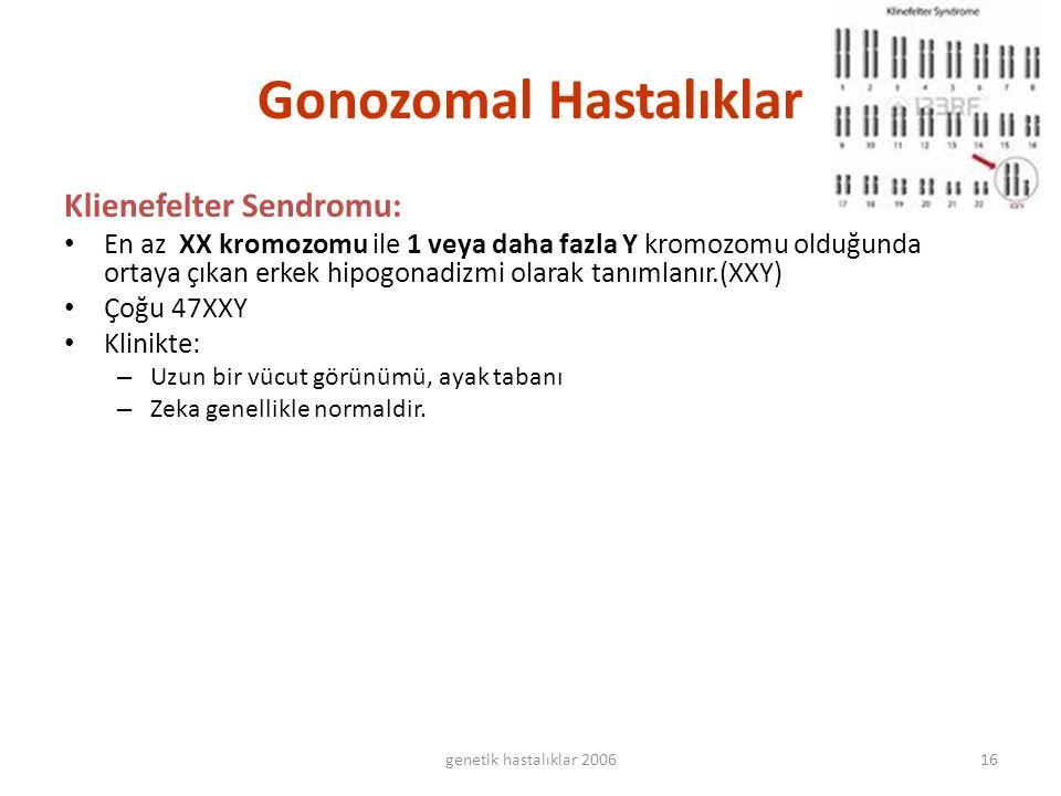 Gonozomal Hastalıklar