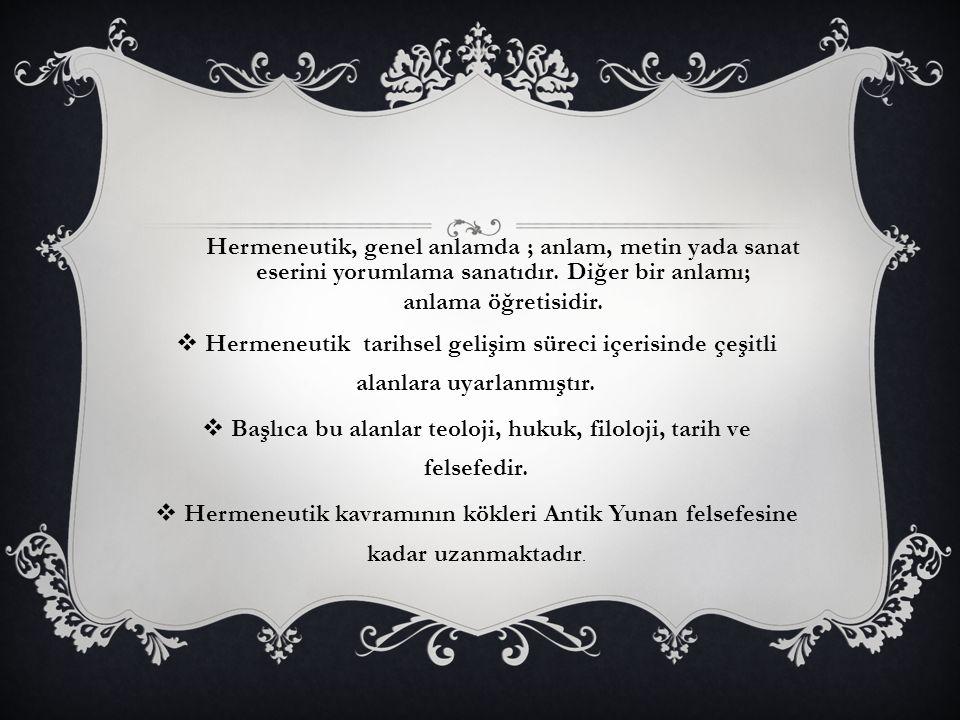 Başlıca bu alanlar teoloji, hukuk, filoloji, tarih ve felsefedir.