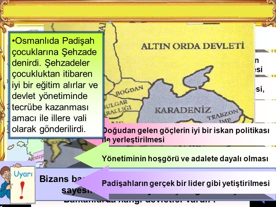 Osmanlı Devletinin kurulduğu bölgeyi diğerlerine göre karşılaştırınız