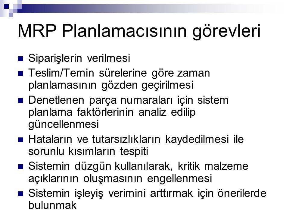 MRP Planlamacısının görevleri