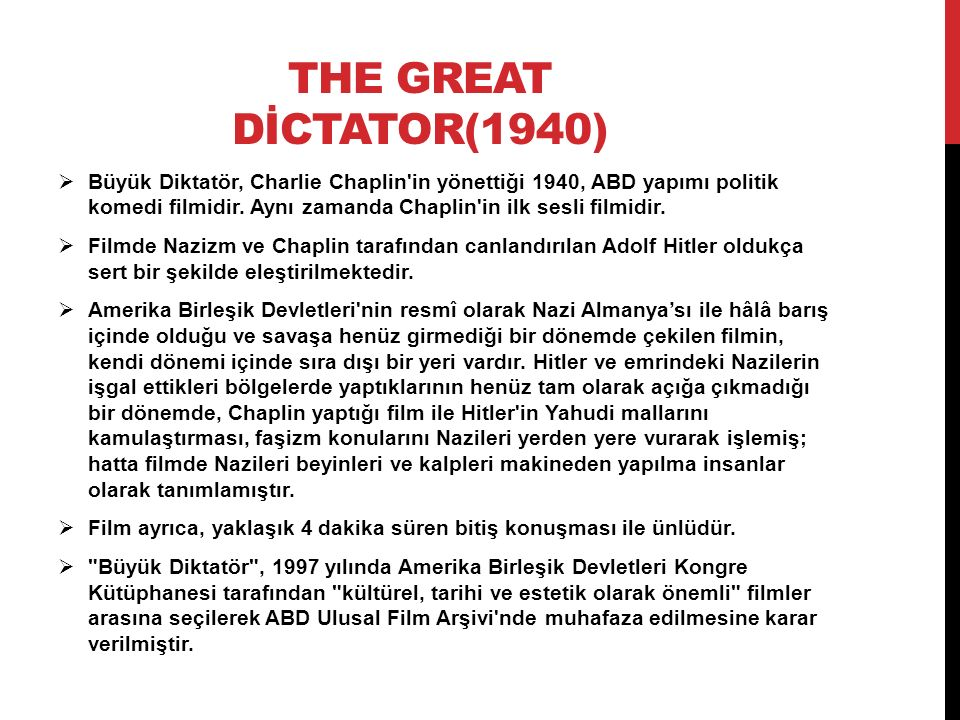 THE GREAT DİCTATOR(1940)