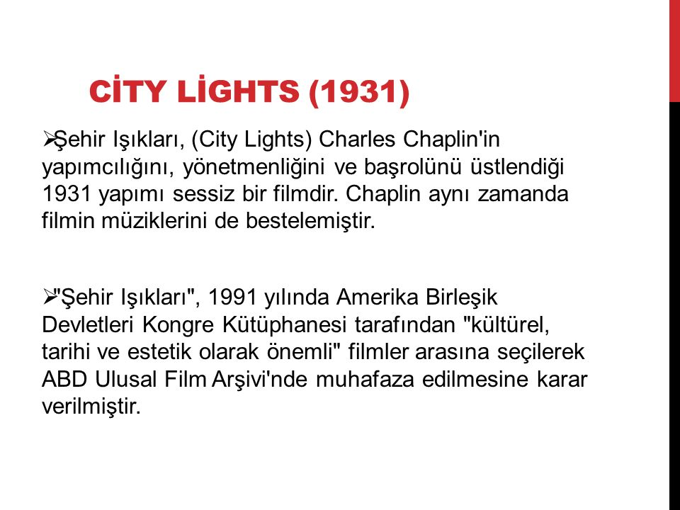 CİTY LİGHTS (1931)