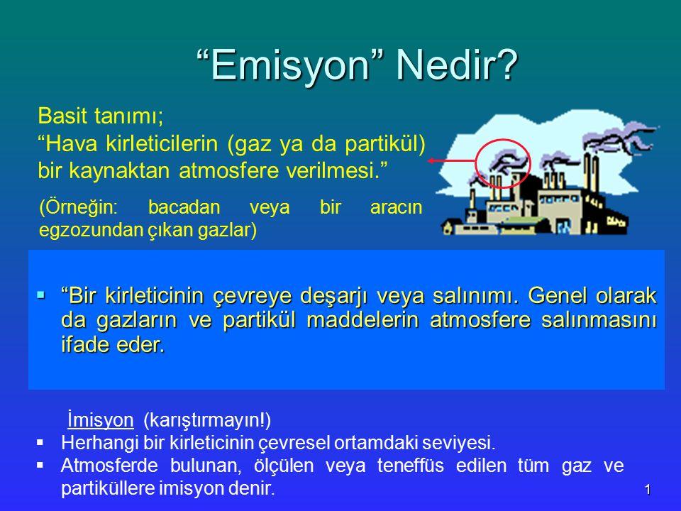 Emisyon Nedir Basit tanımı;