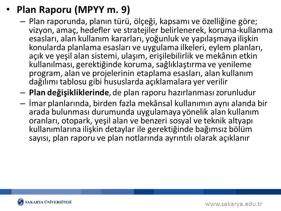 Plan Raporu (MPYY m. 9)