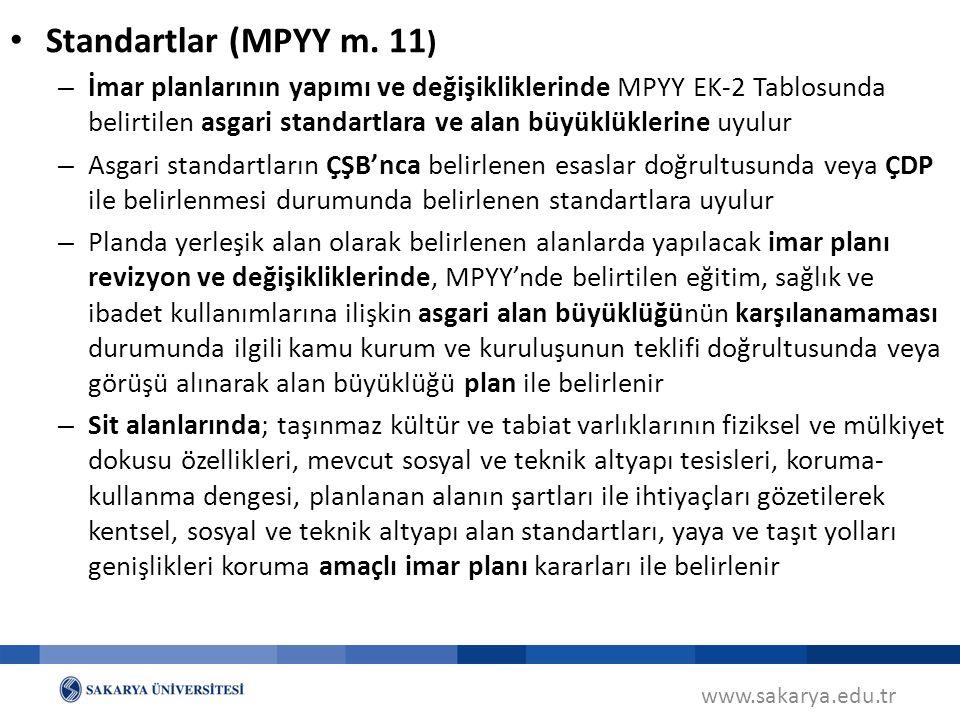 Standartlar (MPYY m. 11)