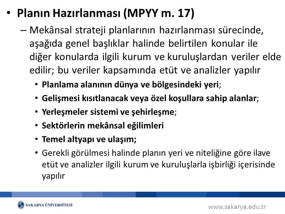 Planın Hazırlanması (MPYY m. 17)