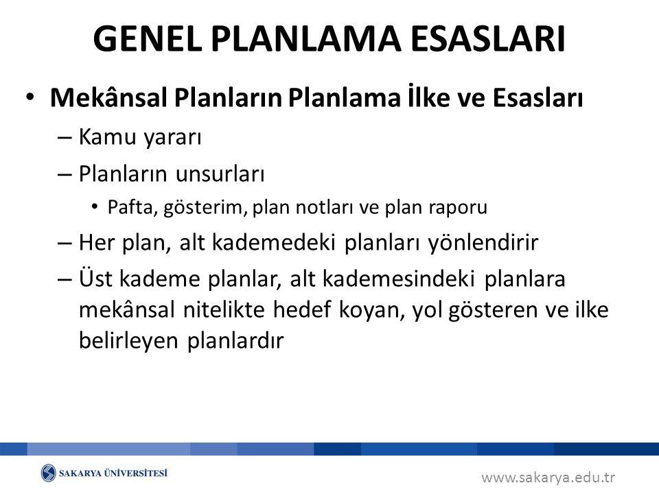 GENEL PLANLAMA ESASLARI
