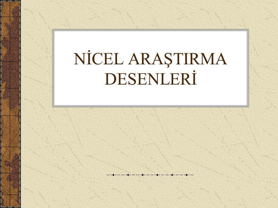 NİCEL ARAŞTIRMA DESENLERİ