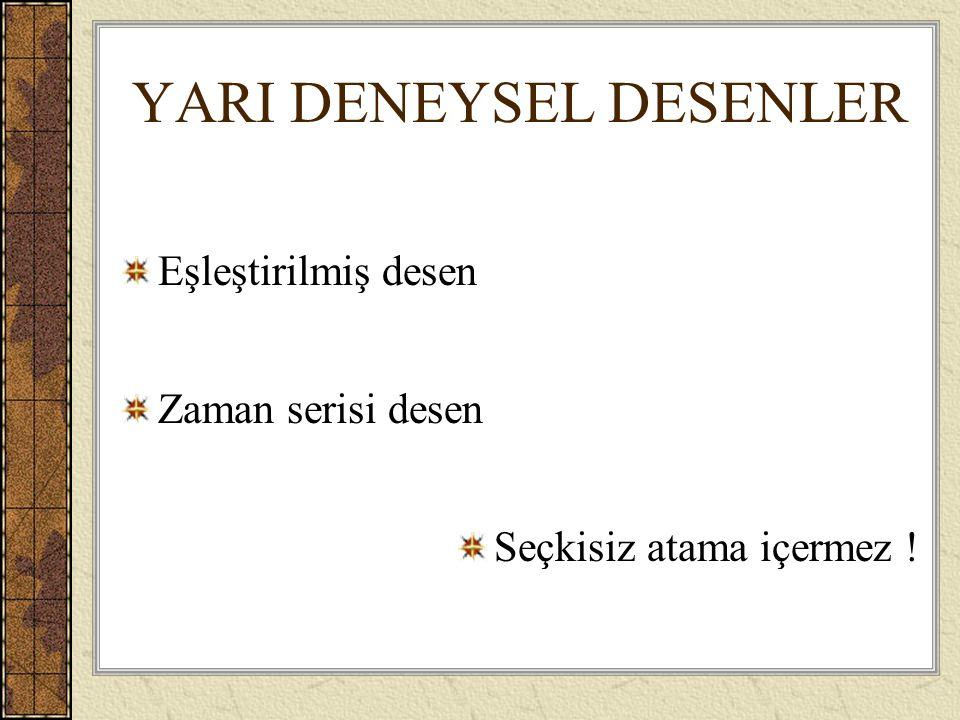 YARI DENEYSEL DESENLER