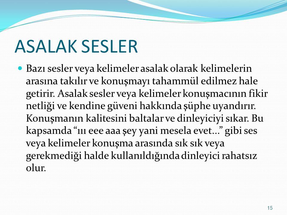 ASALAK SESLER