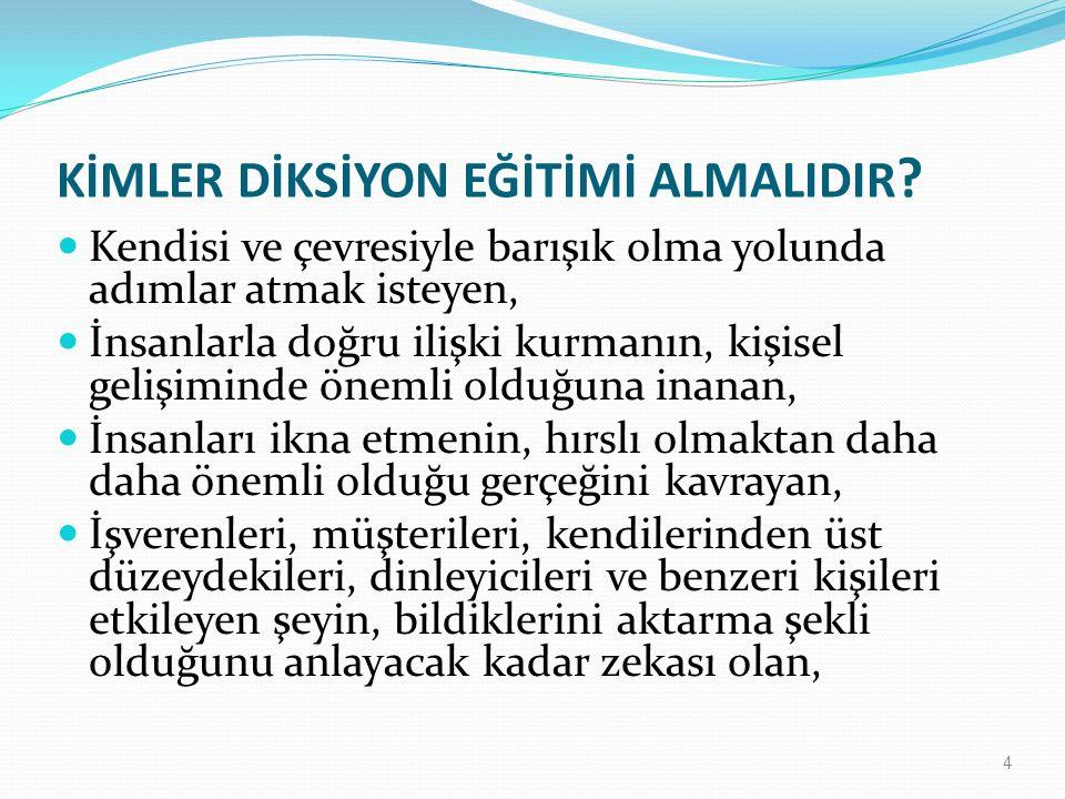 KİMLER DİKSİYON EĞİTİMİ ALMALIDIR