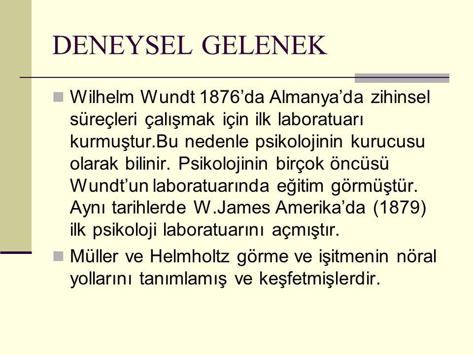 DENEYSEL GELENEK