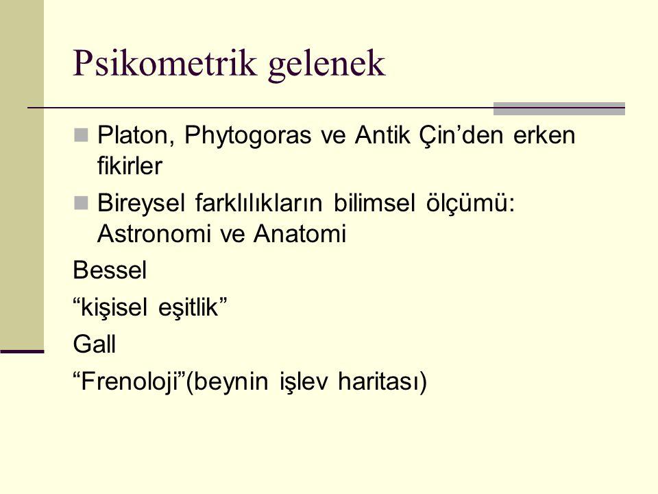 Psikometrik gelenek Platon, Phytogoras ve Antik Çin'den erken fikirler