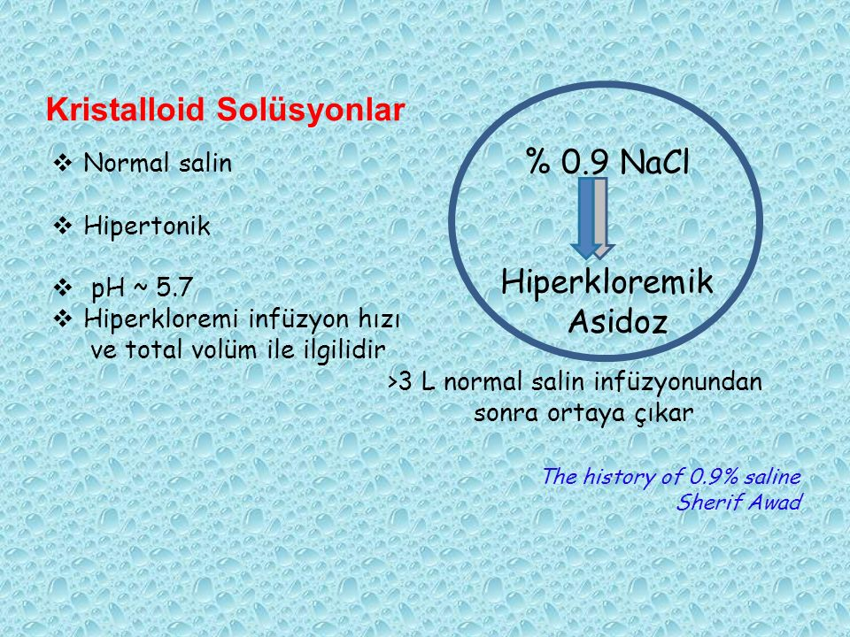 Kristalloid Solüsyonlar