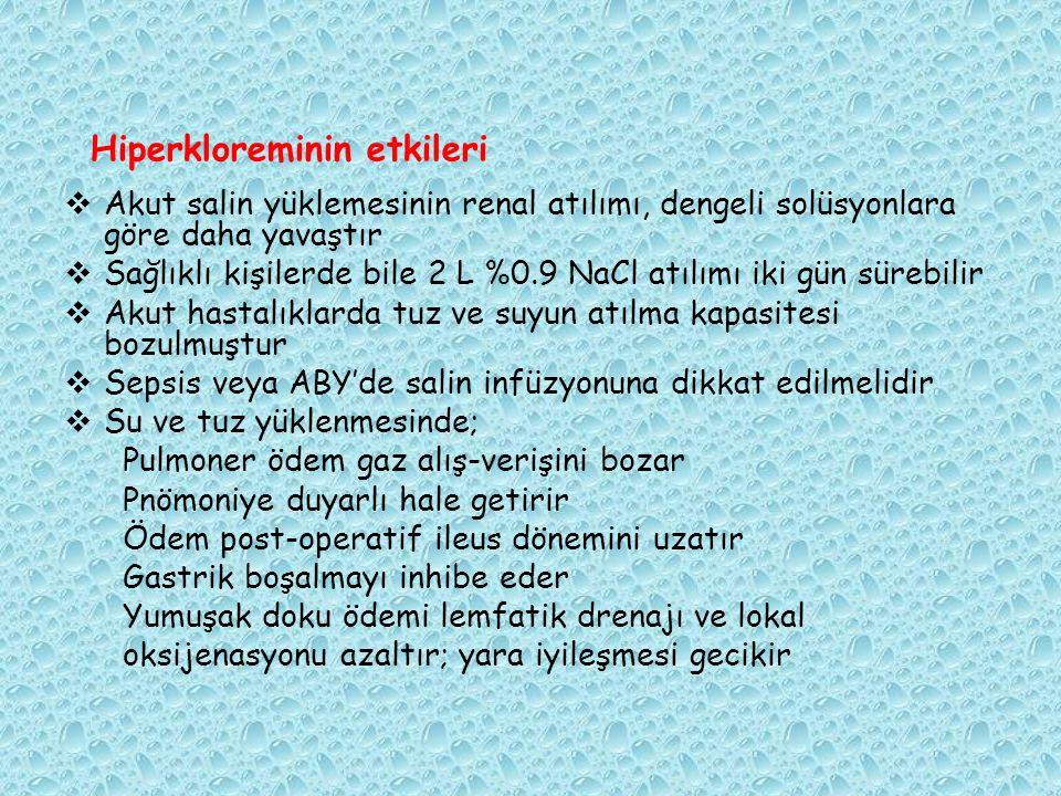 Hiperkloreminin etkileri