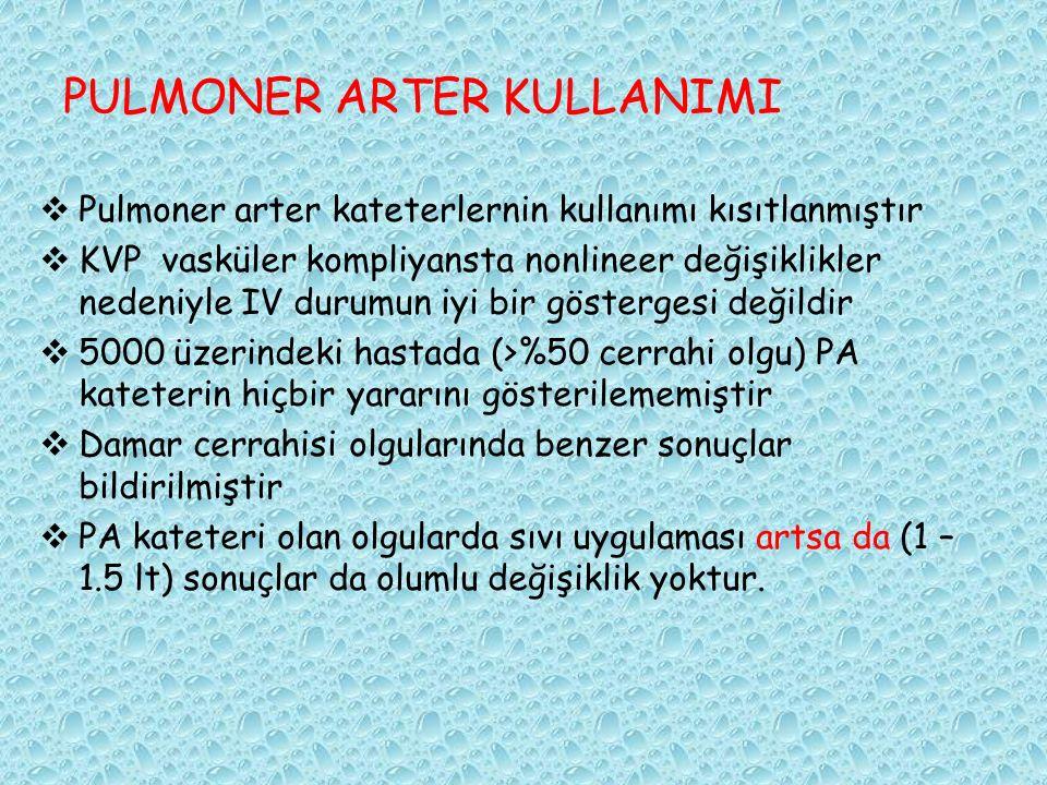 PULMONER ARTER KULLANIMI