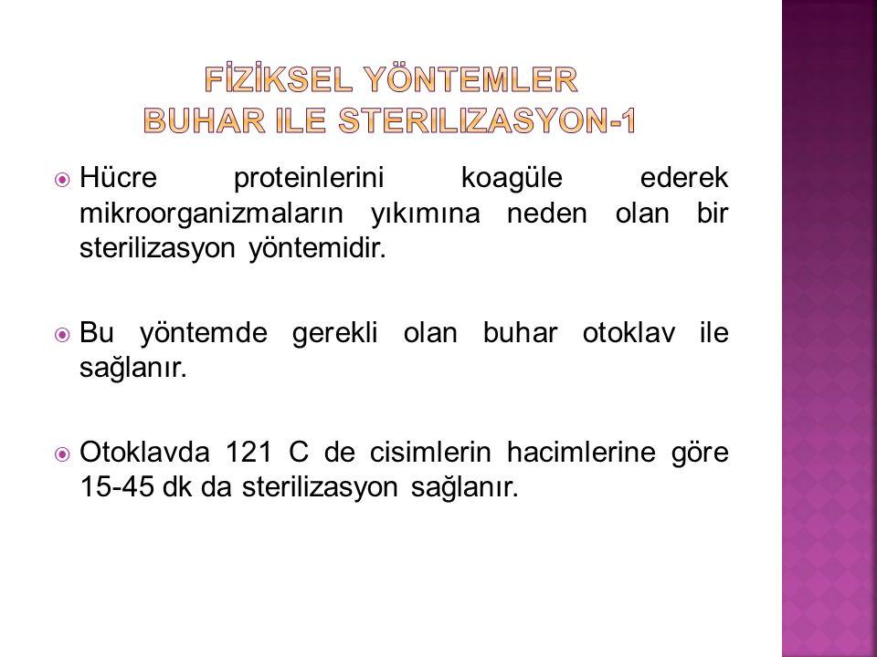 FİZİKSEL YÖNTEMLER Buhar ile sterilizasyon-1