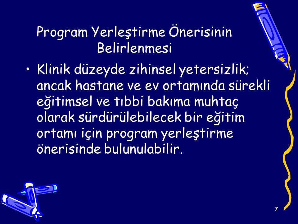 Program Yerleştirme Önerisinin Belirlenmesi