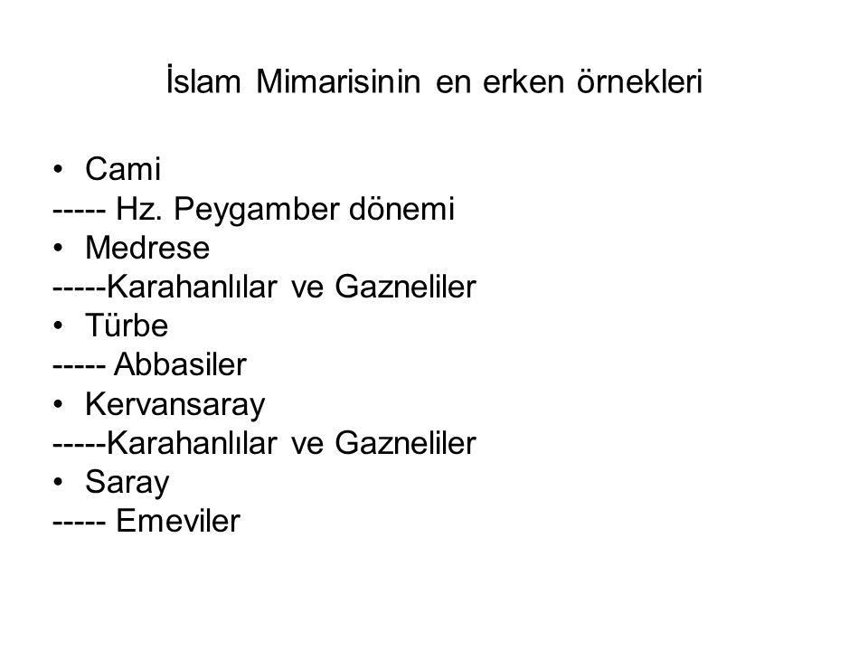 İslam Mimarisinin en erken örnekleri