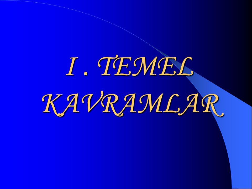 I . TEMEL KAVRAMLAR