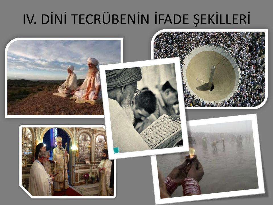 IV. DİNİ TECRÜBENİN İFADE ŞEKİLLERİ