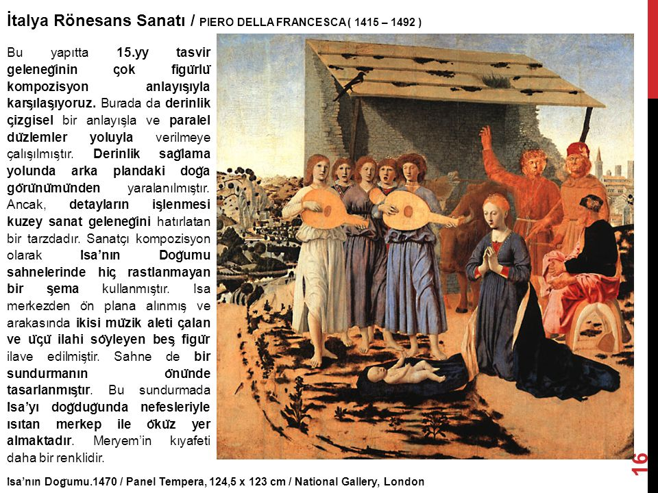 İtalya Rönesans Sanatı / PIERO DELLA FRANCESCA ( 1415 – 1492 )