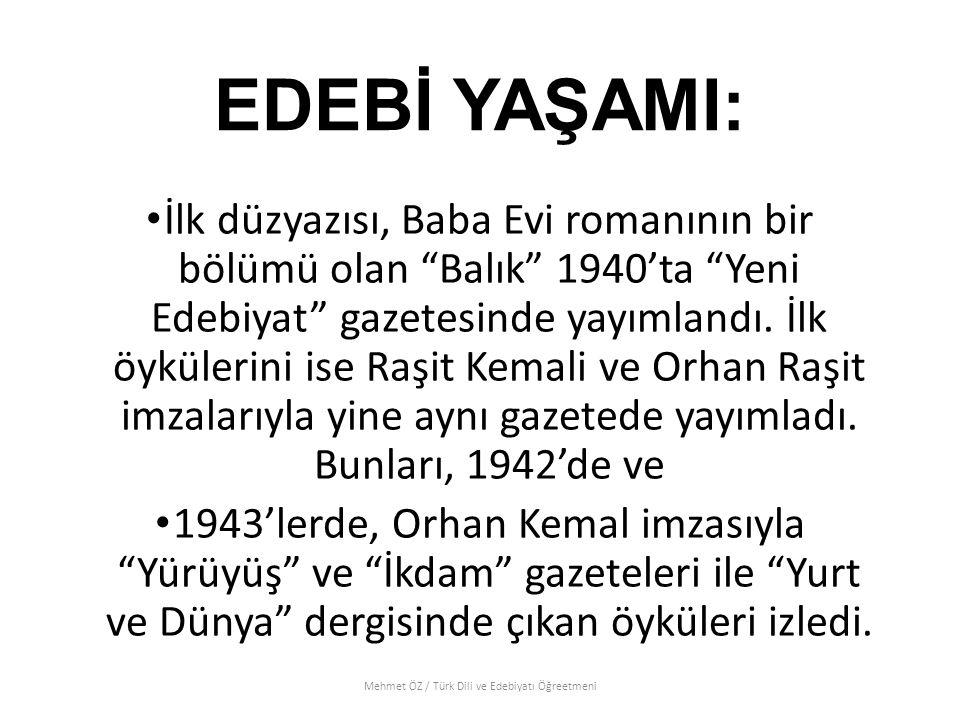 Mehmet ÖZ / Türk Dili ve Edebiyatı Öğreetmeni