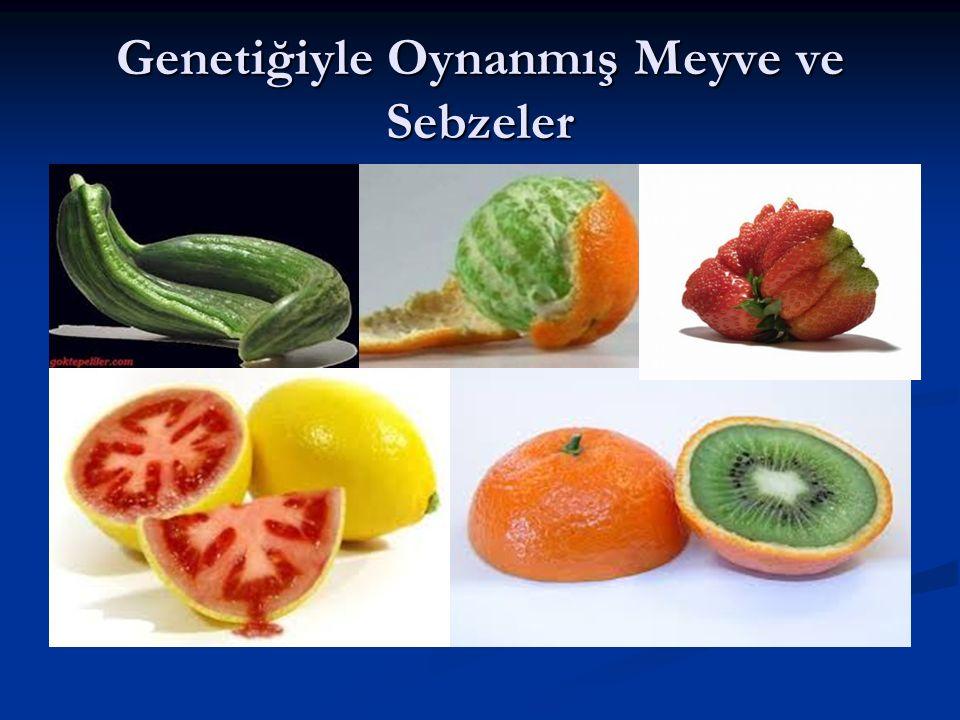 Genetiğiyle Oynanmış Meyve ve Sebzeler