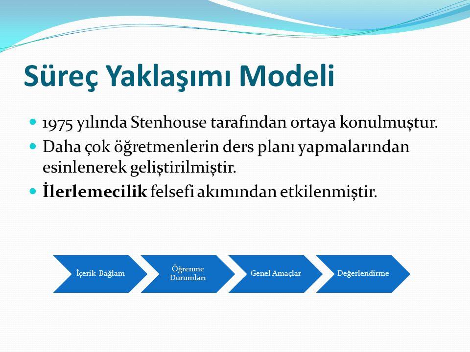 Süreç Yaklaşımı Modeli