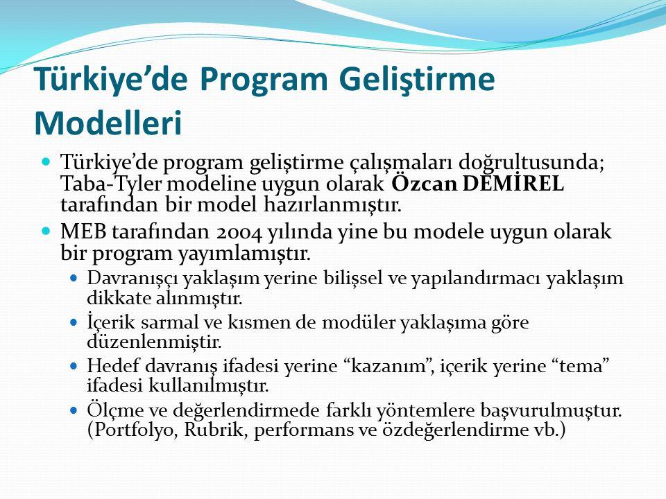 Türkiye'de Program Geliştirme Modelleri