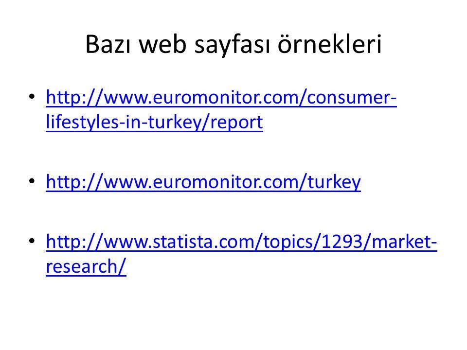 Bazı web sayfası örnekleri