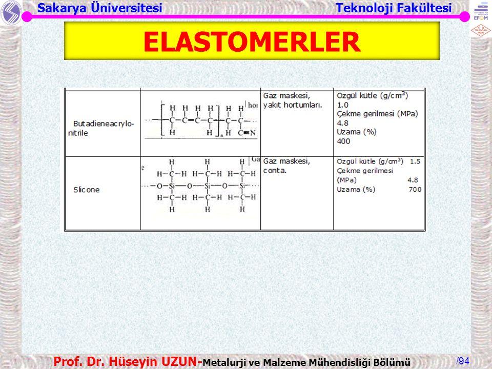 ELASTOMERLER