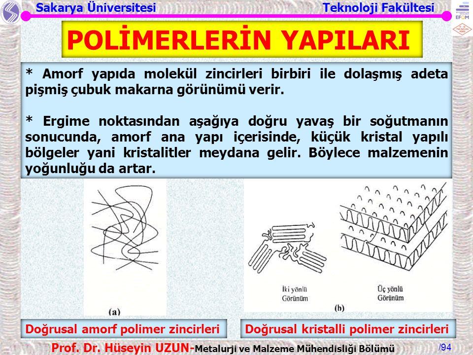 POLİMERLERİN YAPILARI