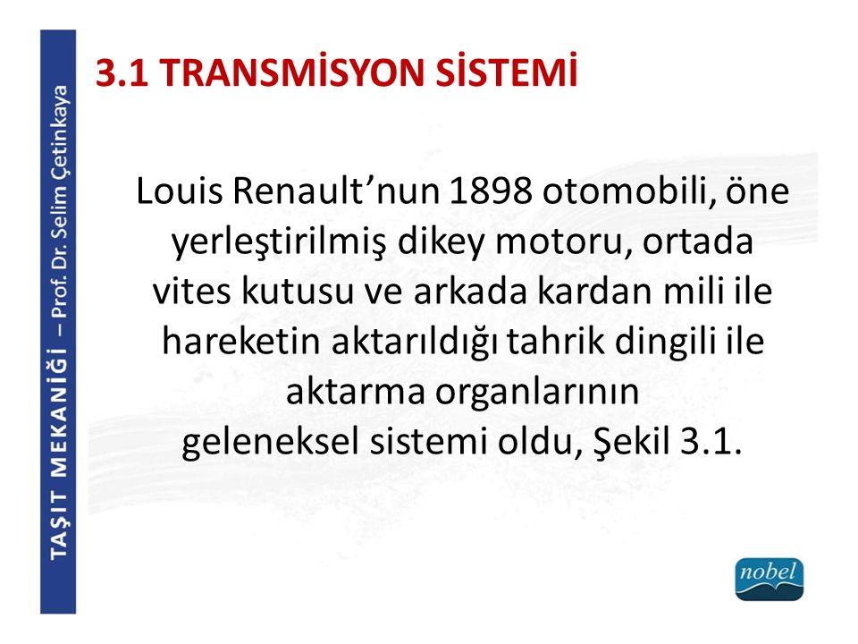 aktarma organlarının geleneksel sistemi oldu, Şekil 3.1.