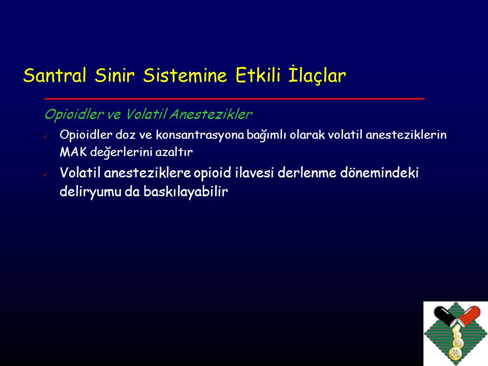 Santral Sinir Sistemine Etkili İlaçlar