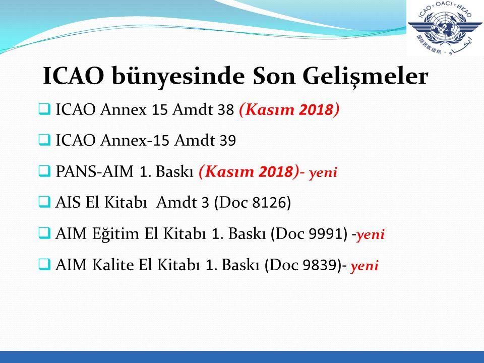 ICAO bünyesinde Son Gelişmeler