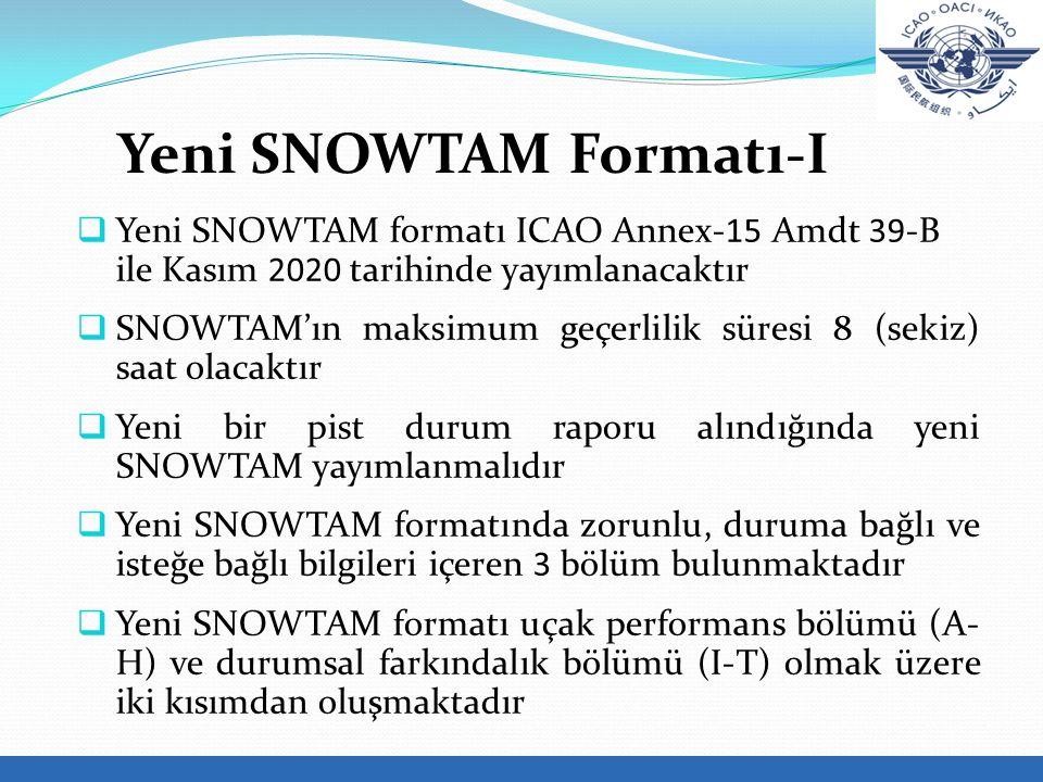 Yeni SNOWTAM Formatı-I