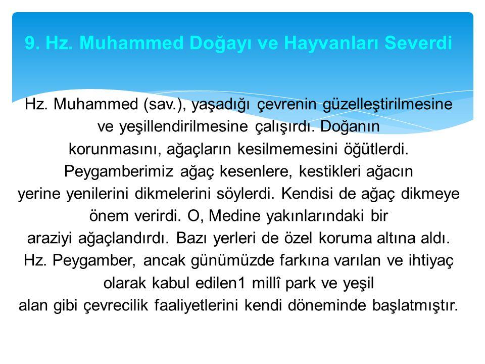 9. Hz. Muhammed Doğayı ve Hayvanları Severdi Hz. Muhammed (sav