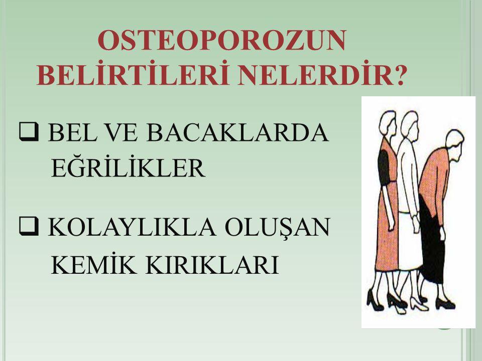 OSTEOPOROZUN BELİRTİLERİ NELERDİR