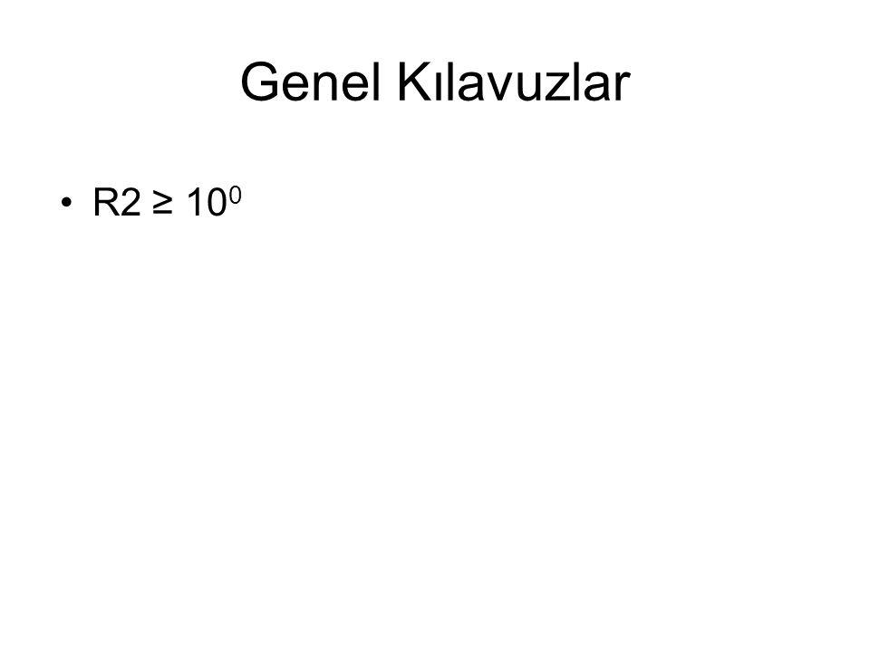 Genel Kılavuzlar R2 ≥ 100