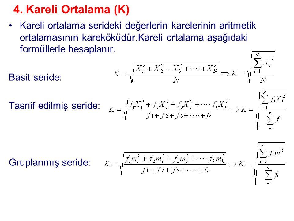 4. Kareli Ortalama (K)