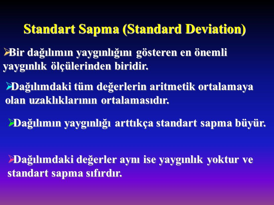 Standart Sapma (Standard Deviation)