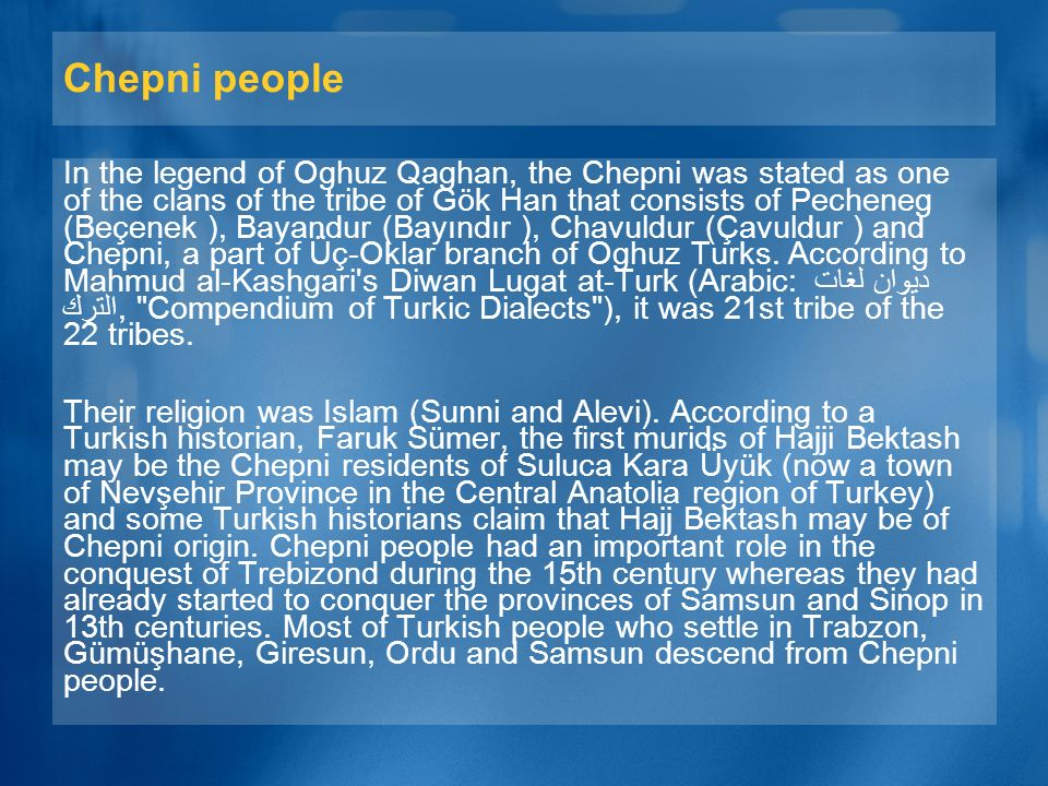 Chepni people