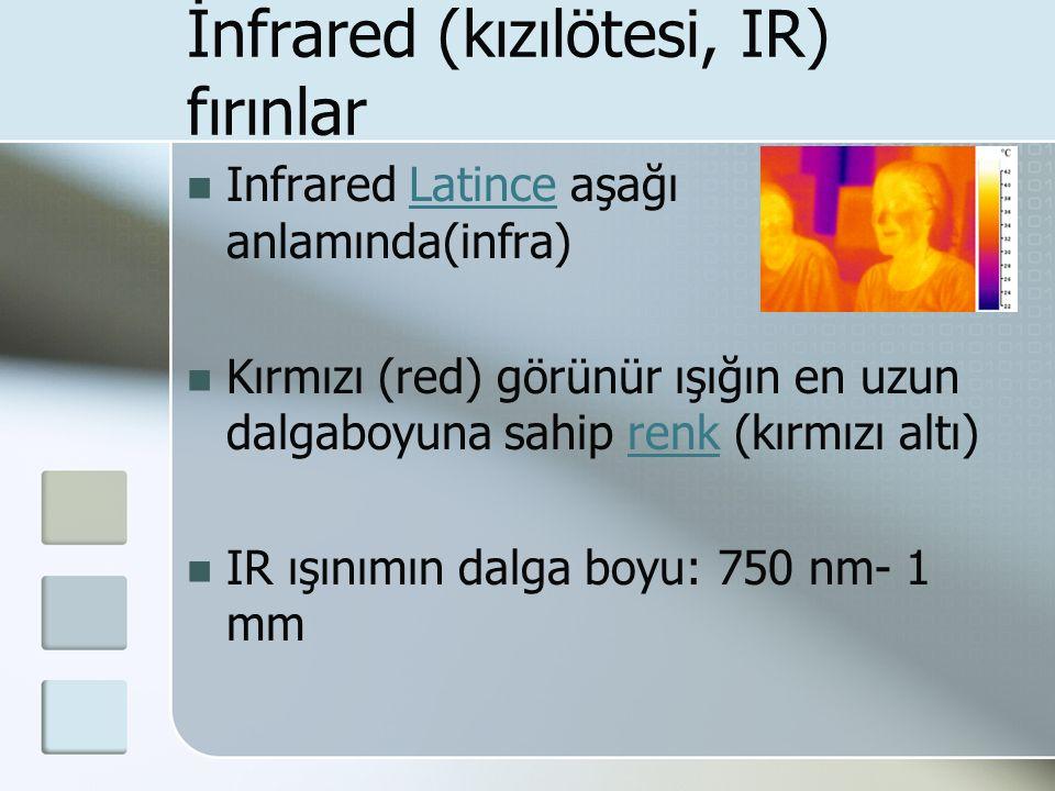 İnfrared (kızılötesi, IR) fırınlar